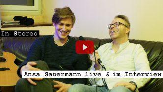 Videoreporter Marcus Mötz für das Musikmagazin IN STEREO mit Ansa Sauermann live und im Interview