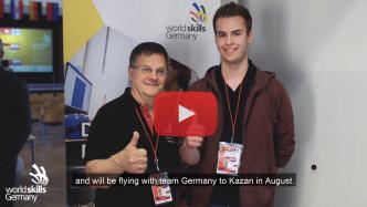 Videojournalist Marcus Mötz für WorldSkills Germany beim Albert-Einstein-Cup